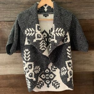 EXPRESS Gray Wool Blend Winter Design Sweater